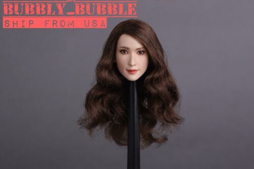1/6 Female Head Sculpt A Long Curly Hair For PHICEN HotToys Figure SHIP FROM USA