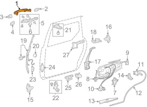 For Toyota Genuine Sliding Door Handle Outer 6921308010B1