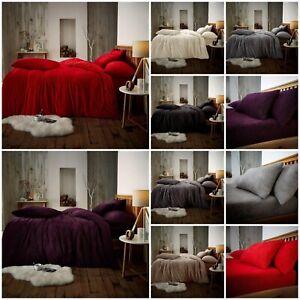 Teddy-Bear-Fleece-Duvet-Cover-Set-Thermal-Warm-Soft-Sherpa-Bedding-amp-Pillowcases