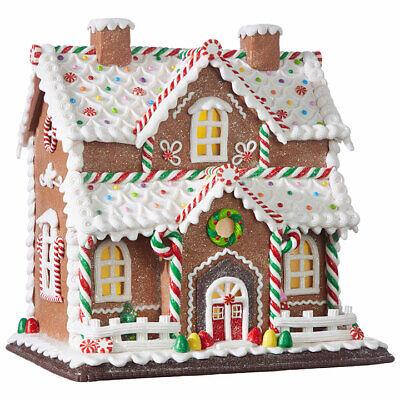 "12.25"" GINGERBREAD LIGHTED HOUSE Clay Dough RAZ CHRISTMAS ..."