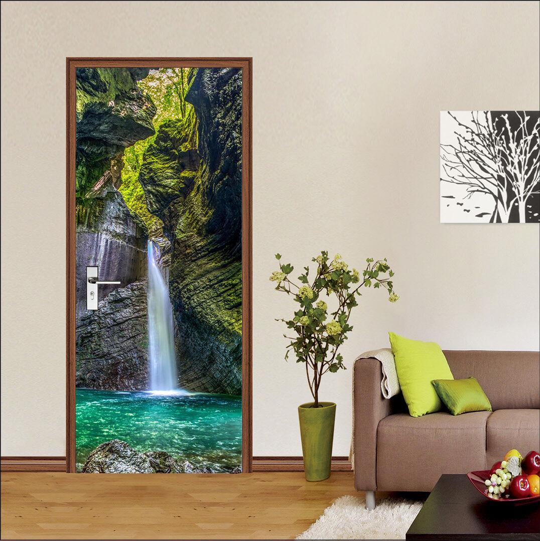 3D Wasserfall 74 Tür Wandmalerei Wandaufkleber Aufkleber AJ WALLPAPER DE Kyra