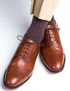 Handmade Men Tan brown Oxford Brogue