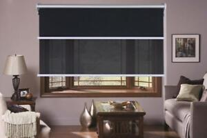 Dual-Day-Night-double-Roller-Blinds-Fits-60-180cm-x-210cm-Drop-4-colors