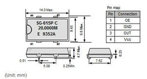 Mc01425a 7.680 MHz quarzoszillator