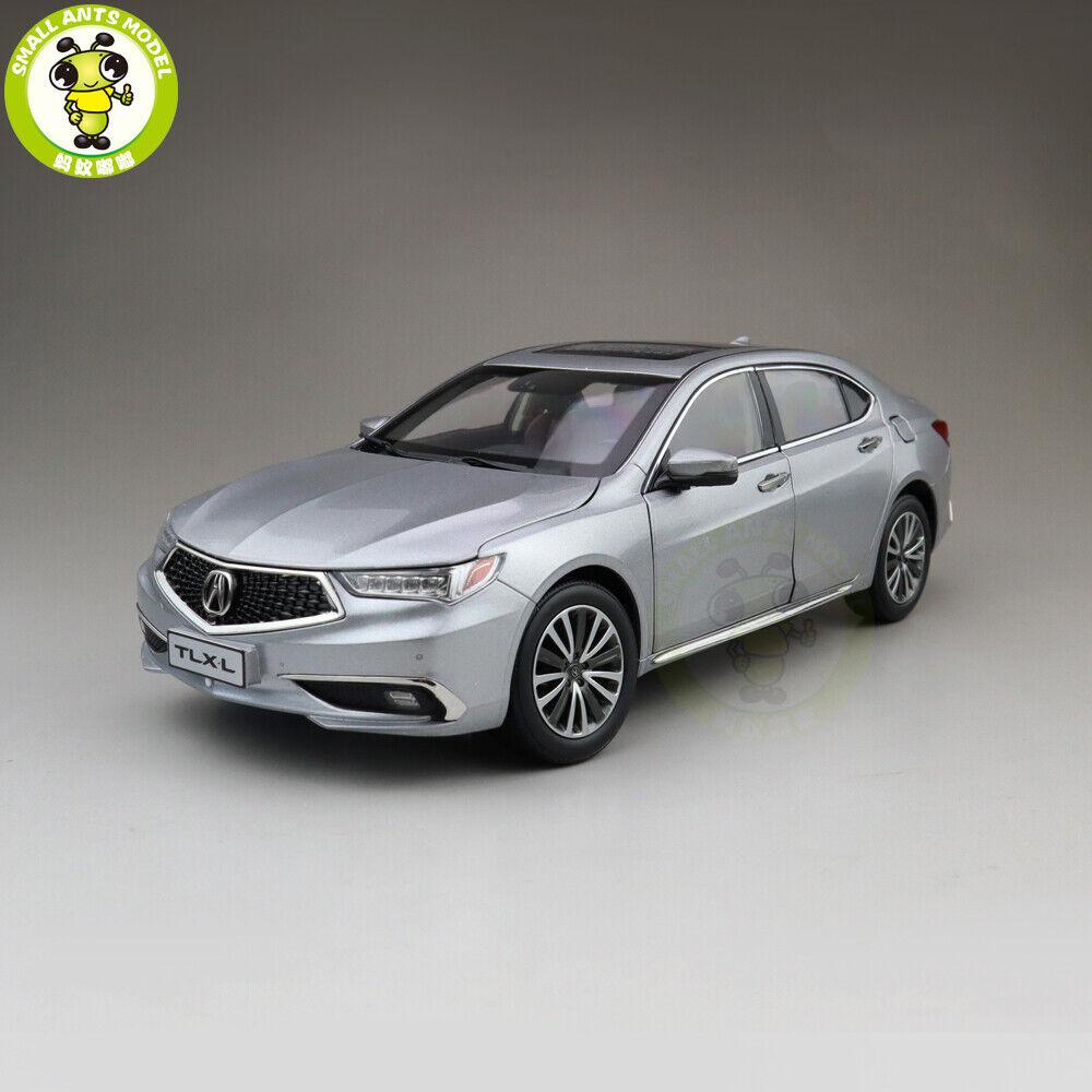 1 18 Honda Acura Tlx L Tlx-L Modelo de Coche de Metal Fundido Juguetes Niños Regalo de argento