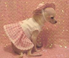 Pink Daisy Harness 3 peiece Set/Dog harness/Dog dress/dog clothes/size ,m or ,l