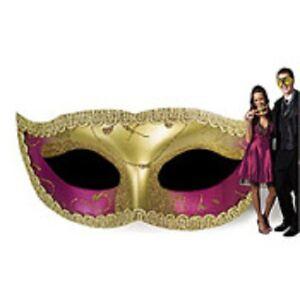 GLITTERING MASK STANDEE * party decor masquerade mardi gras