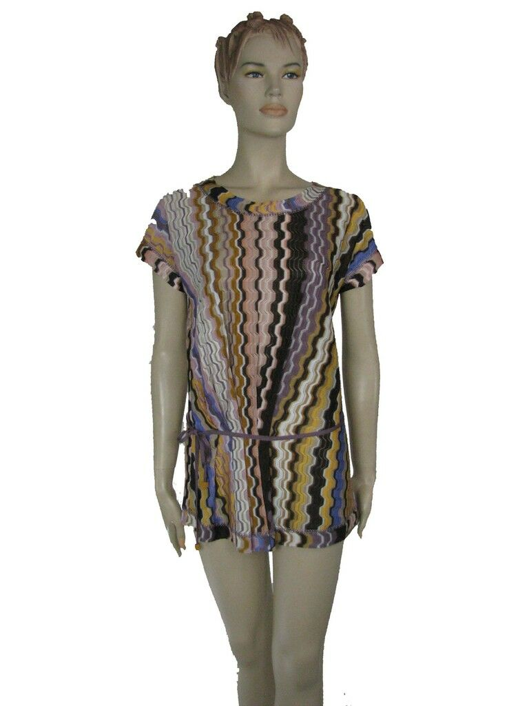MISSONI  RACHELLE  tie waist top sz 40 IT NWT Orange LABEL