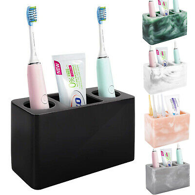 Comb Luxspire Electric Toothbrush Holder Resin Toothbrush Storage Stand Dispenser Bathroom Countertop Organizer Set for Electric Toothbrush Razor Toothpaste Makeup Brush Khaki