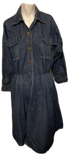 Norma Kamali Omo Womens Vintage 1980s Denim Dress