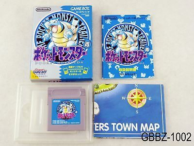Complete Pokemon Blue w/map Japan GB Game Boy Japanese ...