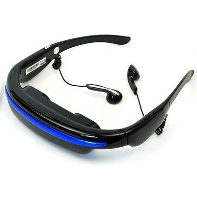 "52"" HD Screen 4GB 3D Stereo Virtual Camera Theater Digital Video Glasses Eyewear"