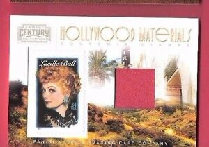 LUCILLE-BALL-WORN-SWATCH-MATERIALS-RELIC-amp-STAMP-CARD-250-AMERICANA-I-LOVE-LUCY