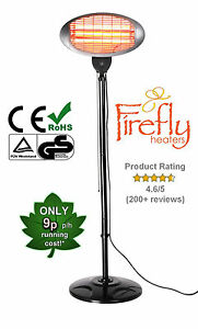 Image Is Loading Firefly Garden Outdoor Quartz 2kw Electric Patio Heater