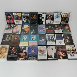 Large-Lot-of-32-Vintage-Country-Cassette-Tapes-Nelson-Brooks-Haggard-Cline-Cash2