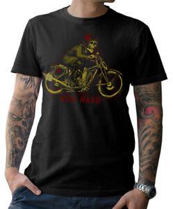 Biker-T-SHIRT-SKULL-Moto-Motocicletta-CAFE-RACER-TESCHIO-CHIAVE-DINAMOMETRICA-s-5xl