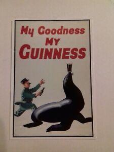 Vintage Guinness Advertising Postcard Guinness Sea Lion Mayfair Cards of London