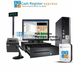 Details about pcAmerica POS System CRE Cash Register Express PRO POS Retail  Intel I3/4GB RAM