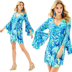 NWT-Lilly-Pulitzer-Rosalia-Dress-Beckon-Blue-Palm-Passage