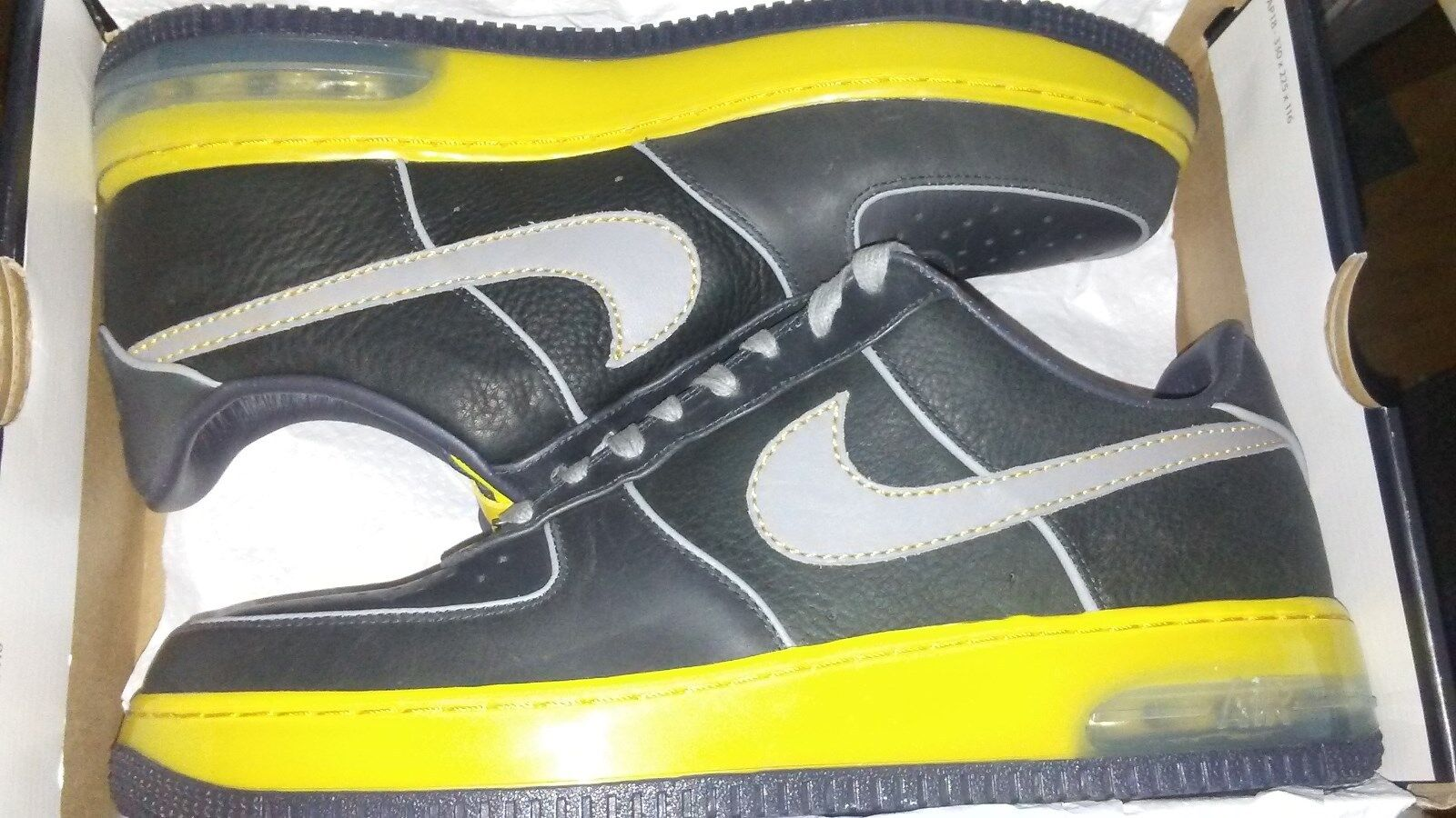 NEW IN BOX Nike Air Force One Max 07 SUPREME SPRM black/yellow SHOES MENS 12