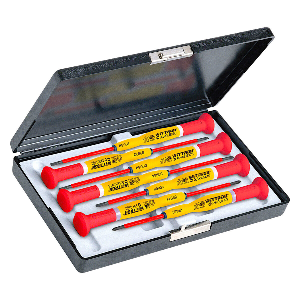 Witte 7 Piece Wittron Insulated Slotted and Phillips Screwdriver Set W  Case