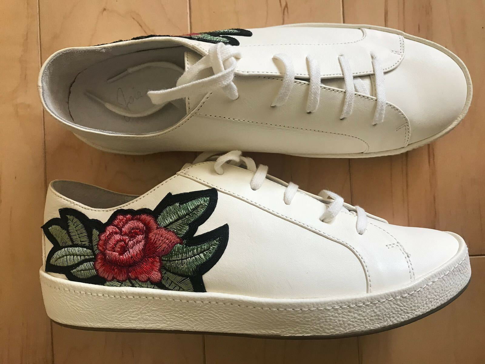 Joie Daryl Embroidered Sneakers, Shell, Size 37