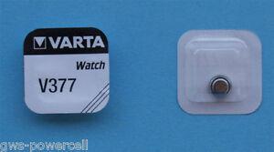2-x-Varta-V-377-Knopfzelle-Uhrenbatterie-V377-SR626SW-SR-66-Vsrta-AG4-Blsiter