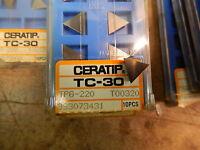 2 Ceratip Tpg 220 Tc-30 Ceramic Inserts