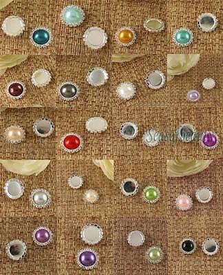Clear Rhinestone Diamante Silver Tone Cluster Flatback For Wedding Invitation
