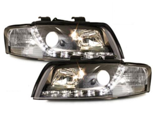 Audi A4 8E LED Tagfahrlicht Scheinwerfer schwarz ECE R87 Zulassung SWA04LGXB