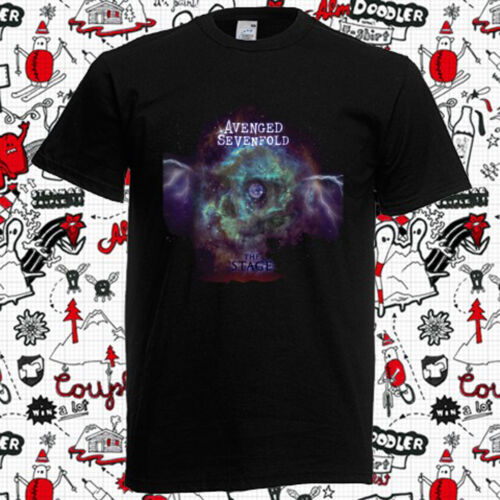 New Avenged Sevenfold Space The Stage Rock Band Men/'s Black T-Shirt Size S-3XL