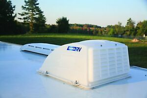 Roof-Vent-Cover-White-Camper-RV-Trailer-Top-Travel-Rain-Air-Wind-Lid-Parts-Camco