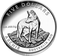 1 Unze Silber Alpine Dingo Archie Australien Australia Zoo  High Relief 2017 5 A