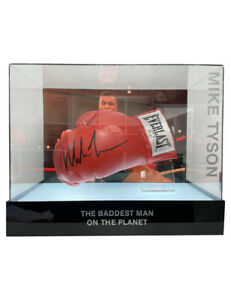 Boxing Glove Signed By Mike Tyson In LED Lit Display Box 100% Authentic with COA