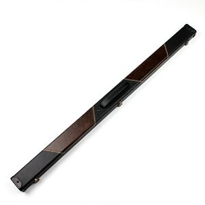 Weichster-3-4-Handmade-Snooker-Pool-Hard-Cue-Case-Black-Brown-Patch-Color-Cases