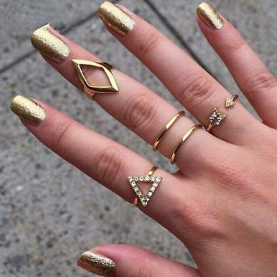 5pcs/set Mid Midi Above Knuckle Ring Band Tip Finger Stacking Rings Nice Jewelry