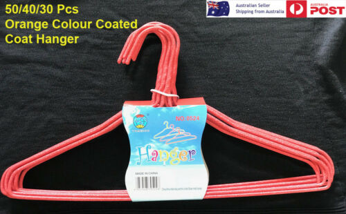 New Orange Wire Hangers 30 40 50 Pcs Coat hangers PVC Colour Bulk Clothes Shirt