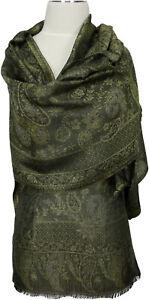 SCIARPA-VERDE-100-seta-silk-soie-scarf-seta-echarpe-sciarpa-VERT-VERDE-GREEN