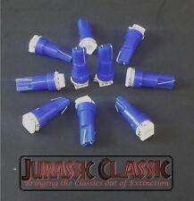 10 GM Bright Blue 12V LED Wedge Instrument Panel Light Bulb Lamp 37 70 74 T5 NOS