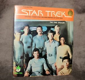 Vintage-Star-Trek-45rpm-Record-Time-Stealer-TOS-Peter-Pan