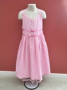 16bf93af005 Bonnie Jean Gingham Check Pink Dress Girls Size 8 Sundress Party ...