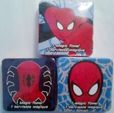 Designs Vary 3 Spider Man Magic Towels Expand in Water Cotton Washcloths Lot