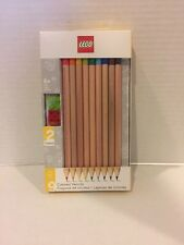 LEGO 9 Pack Colored Pencils with 2 LEGO Toppers by Santoki NEW & SEALED