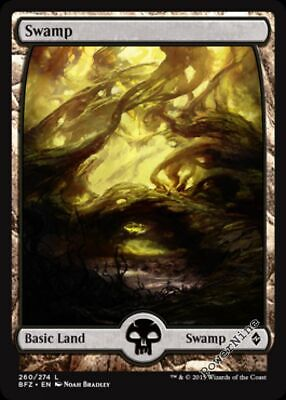 1 FOIL Swamp #263 Basic Land Battle for Zendikar Mtg Magic Basic Land 1x x1