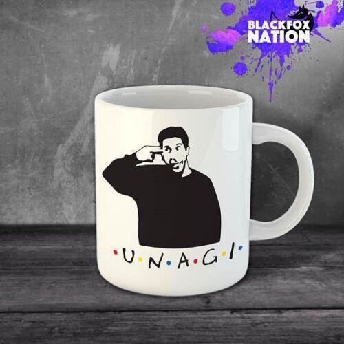 Unagi Coffee Funny Ceramic Mugs Home Kitchen Tea Mug Friends TV Show Ross Gift