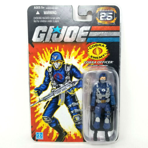 2007 Action Figure Cobra Officer 25th Anniversary Hasbro G.I.Joe