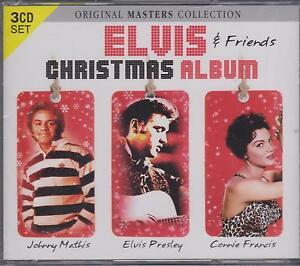 ELVIS-PRESLEY-FRIENDS-JOHNNY-MATHIS-CONNIE-FRANCIS-CHRISTMAS-3-CDs-NEW