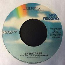 """BRENDA LEE: """"I'M SORRY"""" b/w """"ALL ALONE AM I"""" on USA MCA REISSUE"""