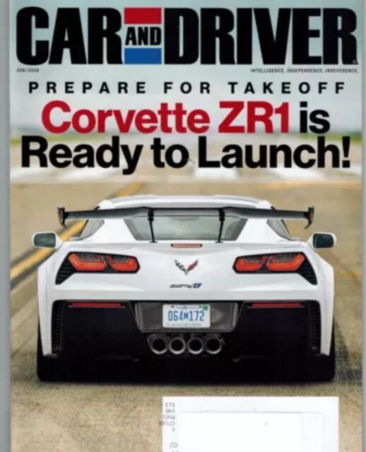Car And Driver Magazine June 2018 Rare Corvette Zr1 Tesla Model 3 New