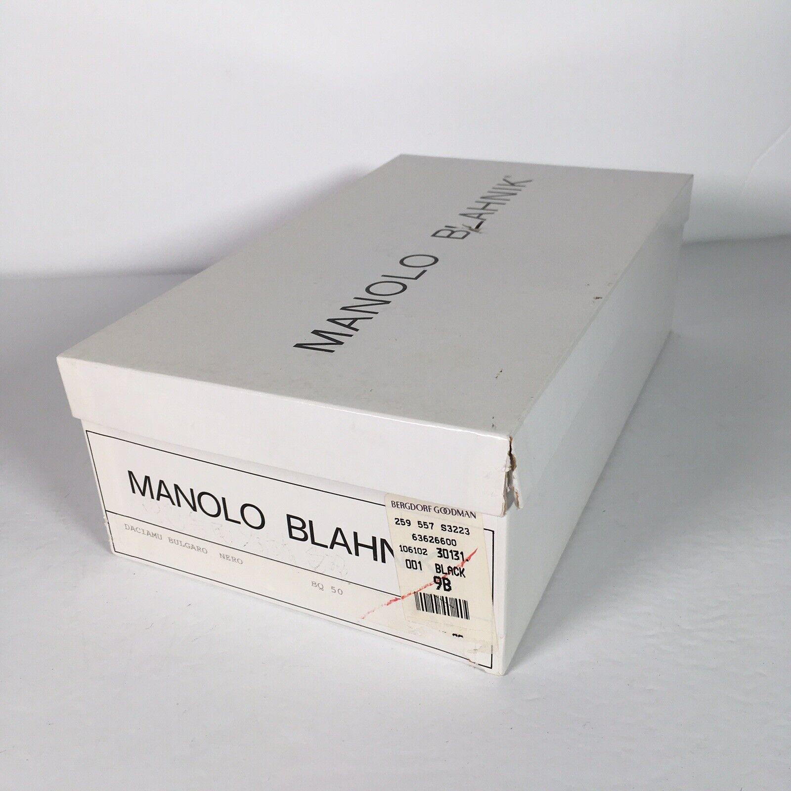 Vintage 90's Manolo Blahnik Black Leather Pointed… - image 11